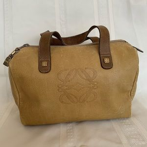 ♥️ LOEWE Mustard Yellow Leather Boston Handbag(340